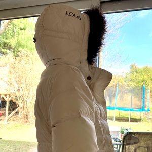 Lole white winter coat